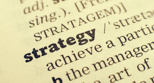 The word strategy in a dictionary